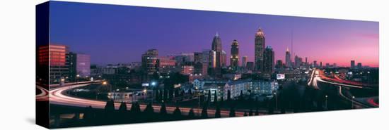 Atlanta Skyline at Night I--Stretched Canvas Print