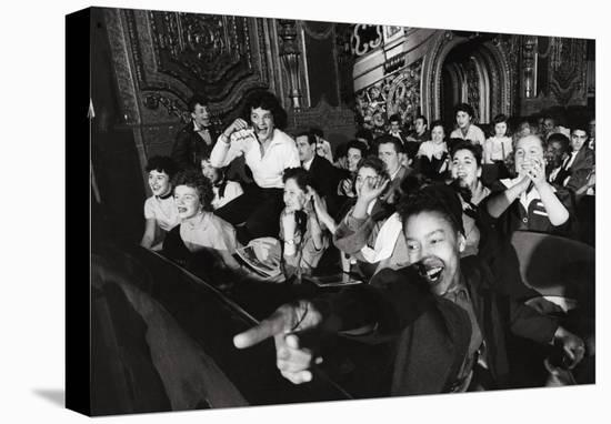Audience Members Enjoying Alan Freed's Easter Show at Brooklyn Paramount Theater-Walter Sanders-Stretched Canvas Print