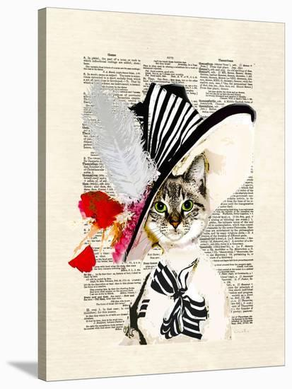 Audrey Cat-Matt Dinniman-Stretched Canvas Print