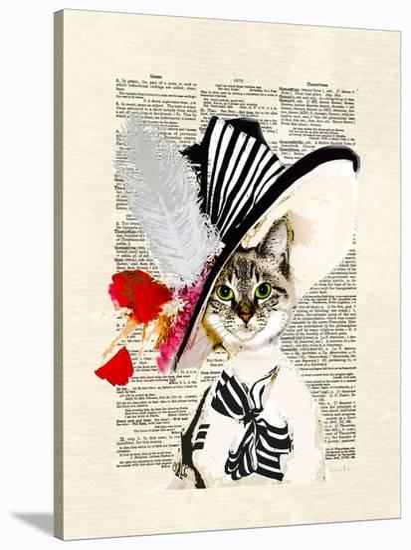 Audrey Cat-Matt Dinniman-Stretched Canvas Print