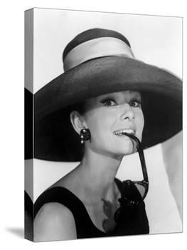 """Audrey Hepburn. """"Breakfast at Tiffany's"""" [1961], Directed by Blake Edwards.-null-Premier Image Canvas"""