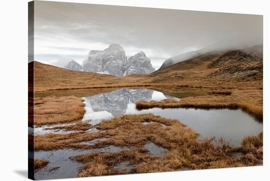 Autumn In Dolomites Area Italy--Stretched Canvas Print