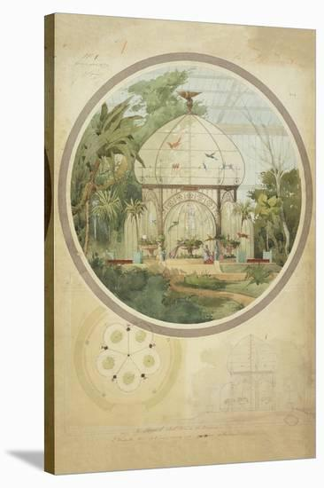 Aviary in a Winter Garden-Adrien Chancel-Stretched Canvas Print