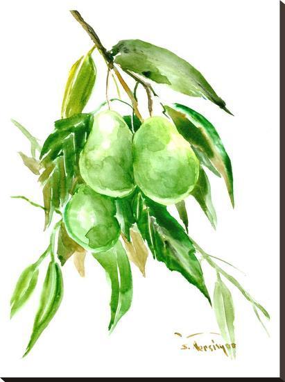Avocados-Suren Nersisyan-Stretched Canvas Print