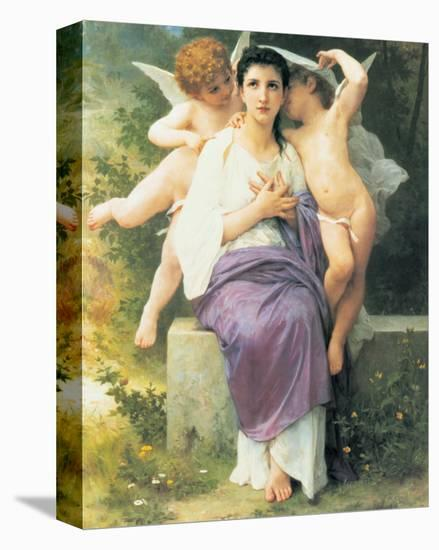 Awakening of the Heart-William Adolphe Bouguereau-Stretched Canvas Print