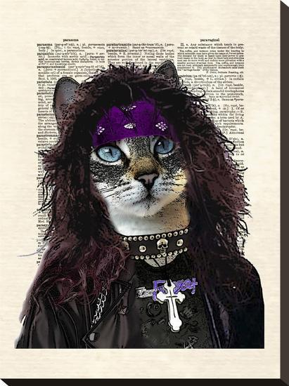 Axl Glitter Puss-Matt Dinniman-Stretched Canvas Print