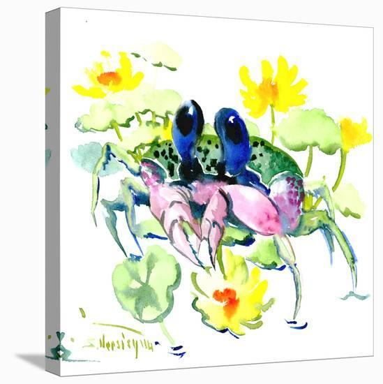 Baby Crab Blue Eyes-Suren Nersisyan-Stretched Canvas Print