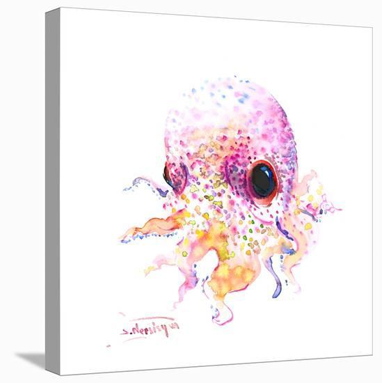 Baby Cute Octopus-Suren Nersisyan-Stretched Canvas Print