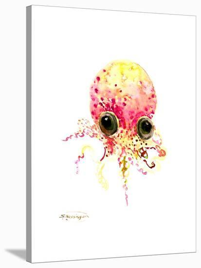 Baby Octopus Peach Color-Suren Nersisyan-Stretched Canvas Print