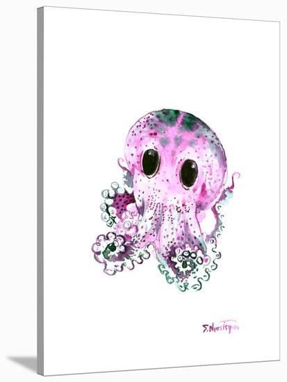 Baby Octopus Tuquoise-Suren Nersisyan-Stretched Canvas Print