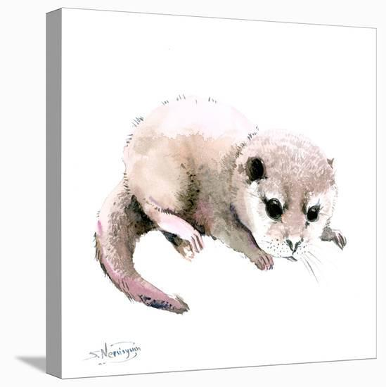 Baby Otter-Suren Nersisyan-Stretched Canvas Print