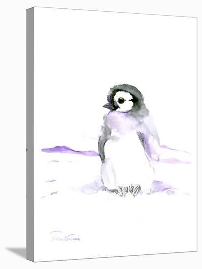 Baby Penguin-Suren Nersisyan-Stretched Canvas Print