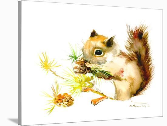 Baby Squirrel-Suren Nersisyan-Stretched Canvas Print