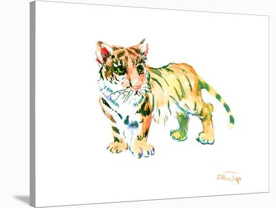 Baby Tiger-Suren Nersisyan-Stretched Canvas Print