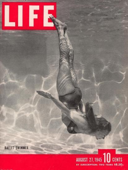 Ballet Swimmer Belita, August 27, 1945-Walter Sanders-Stretched Canvas