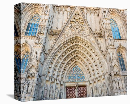 Barcelona Sagrada FamiliaGate--Stretched Canvas Print
