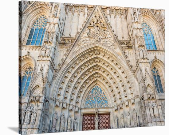 Barcelona Sagrada FamiliaGate--Stretched Canvas Print