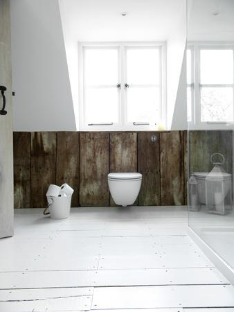 Bathroom Detail in Coach House of Orchard Cottage Conversion, UK-Stuart Cox-Stretched Canvas Print