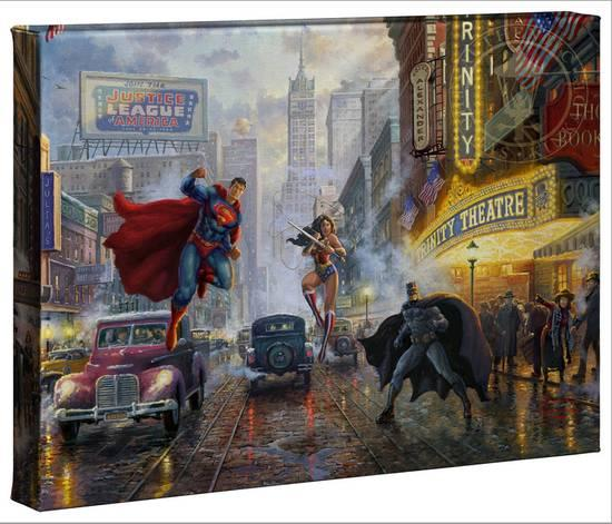 superman nursery decor.htm batman  superman and wonder woman  gallery wrapped canvas thomas  batman  superman and wonder woman