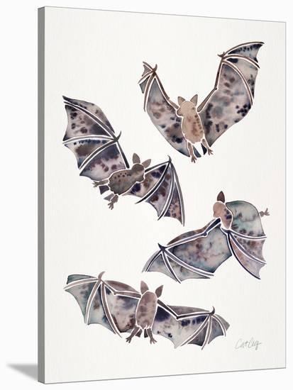Bats In Flight-Cat Coquillette-Stretched Canvas Print