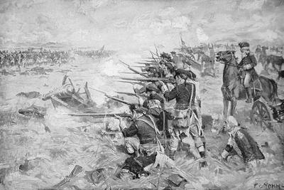 Battle of Brandywine, 11 September 1777-Frederick Coffay Yohn-Stretched Canvas Print