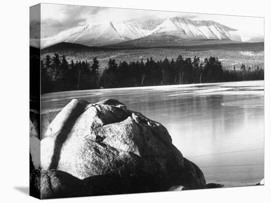Baxter State Park with Mt. Katahdin in Distance-Fritz Goro-Stretched Canvas Print