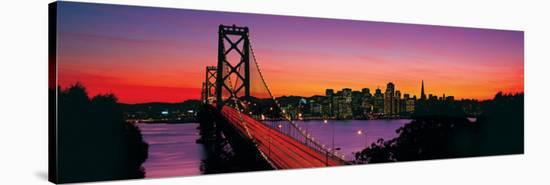 Bay Bridge to San Francisco--Stretched Canvas Print