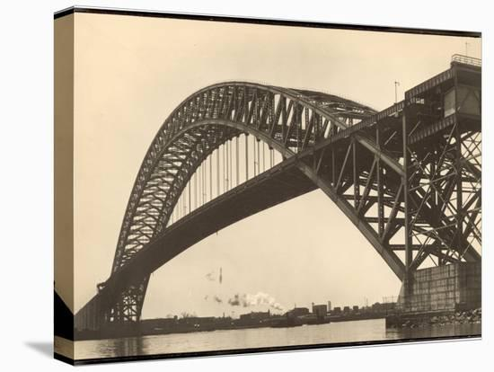 Bayonne Bridge and the Port of Ny-Margaret Bourke-White-Stretched Canvas Print