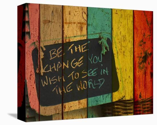 Be the Change-Irena Orlov-Stretched Canvas Print
