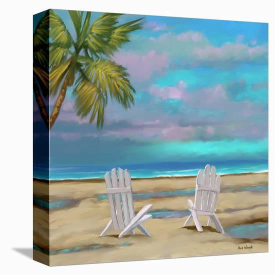 Beach Chairs 01-Rick Novak-Stretched Canvas Print