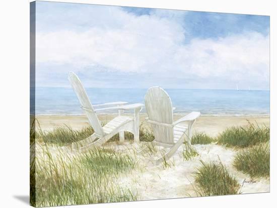 Beach Chairs-Arnie Fisk-Stretched Canvas Print