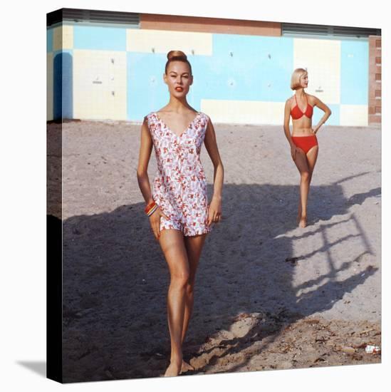 Beach Fashions-Gordon Parks-Stretched Canvas Print