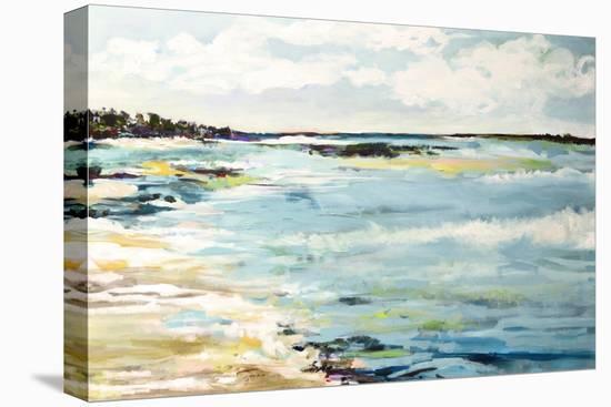 Beach Surf III-Karen  Fields-Stretched Canvas Print