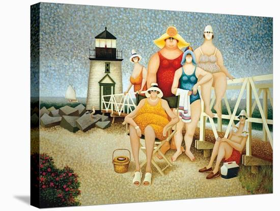 Beach Vacation-Lowell Herrero-Stretched Canvas Print