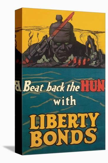 Beat Back The Hun-Fred Strothman-Stretched Canvas Print