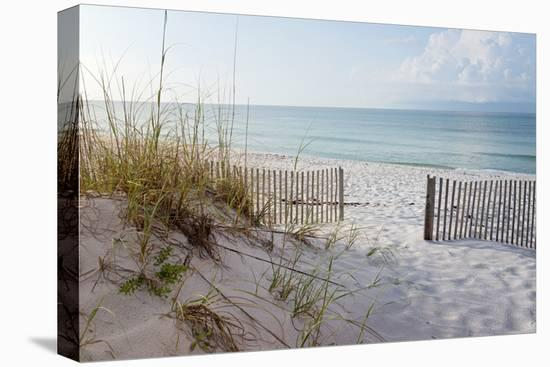 Beautiful Beach at Sunrise-forestpath-Stretched Canvas Print