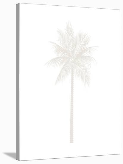 Beige Palm-Jetty Printables-Stretched Canvas Print