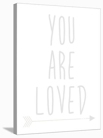 Beige You Are Loved-Jetty Printables-Stretched Canvas Print