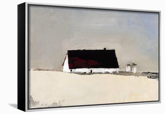 Big Barn and Silos-Sandra Pratt-Framed Canvas Print