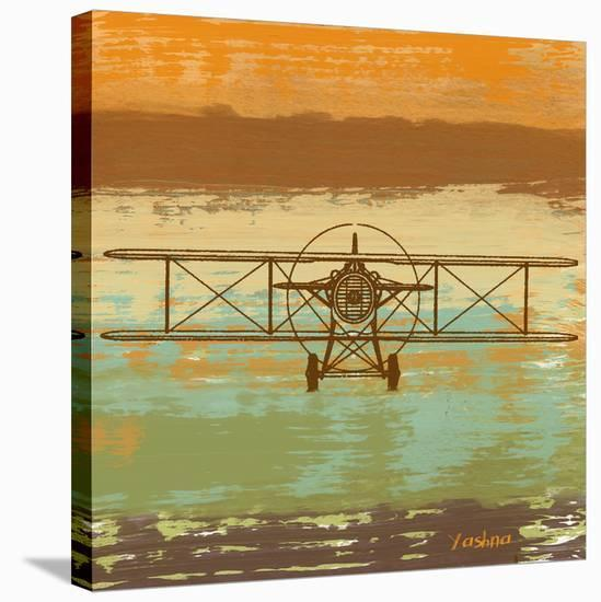 Biplane II-Yashna-Stretched Canvas Print