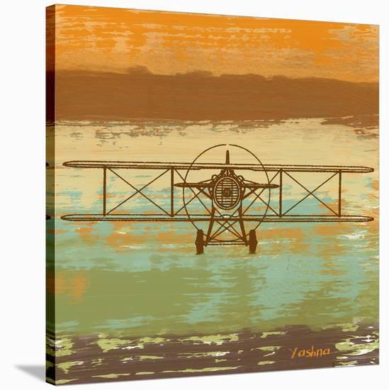 Biplane II-Yashna-Stretched Canvas Print