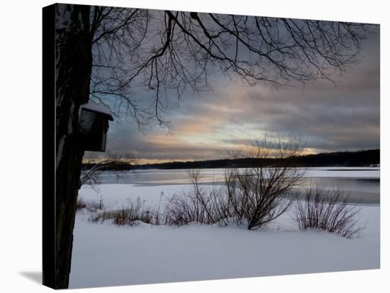 Birdhouse at Sunset by West Lake, Danbury, Connecticut-Eric Gottschalk-Premier Image Canvas