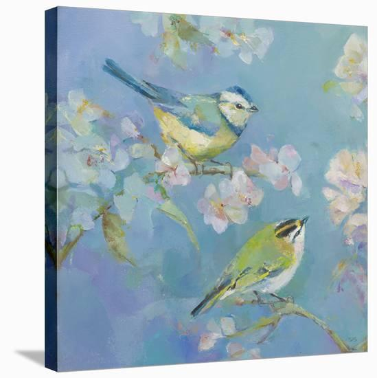 Birds in Blossom - Detail I-Sarah Simpson-Stretched Canvas Print