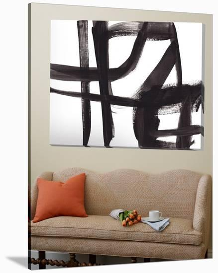 Black and White Abstract Painting 2-Jaime Derringer-Loft Art