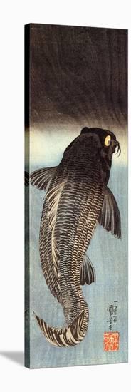 Black Carp-Kuniyoshi Utagawa-Stretched Canvas Print