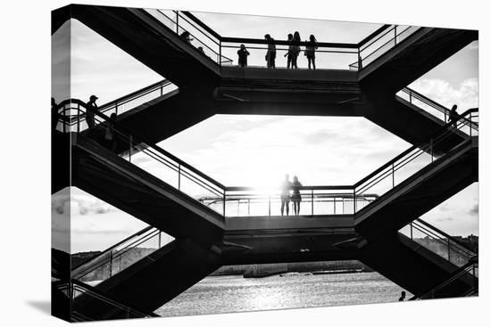Black Manhattan Collection - Vessel Sunset-Philippe Hugonnard-Stretched Canvas Print