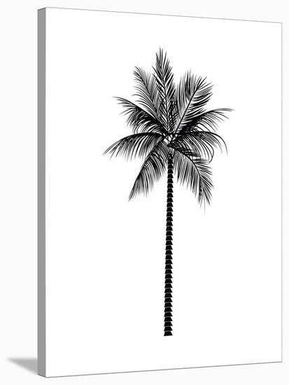Black Palm-Jetty Printables-Stretched Canvas Print