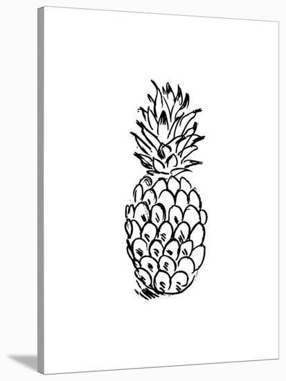Black Pineapple-Jetty Printables-Stretched Canvas Print