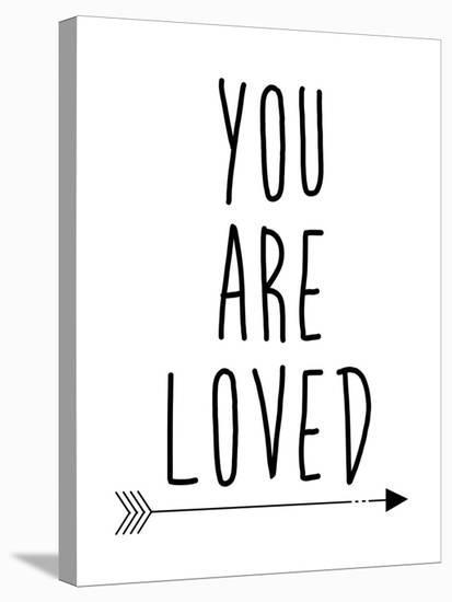 Black You Are Loved-Jetty Printables-Stretched Canvas Print