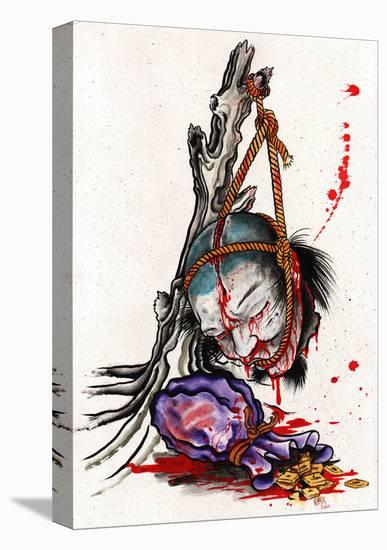 Blood Money-Clark North-Stretched Canvas Print